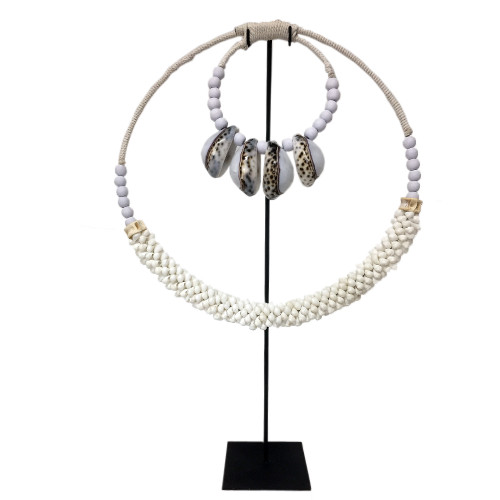 Home Decor shell necklace  on metal stand 40cm x 60cm