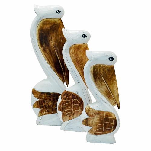 Wood Pelicans Set of 3  Home Table top Decoration  home decor 50/40/30cm