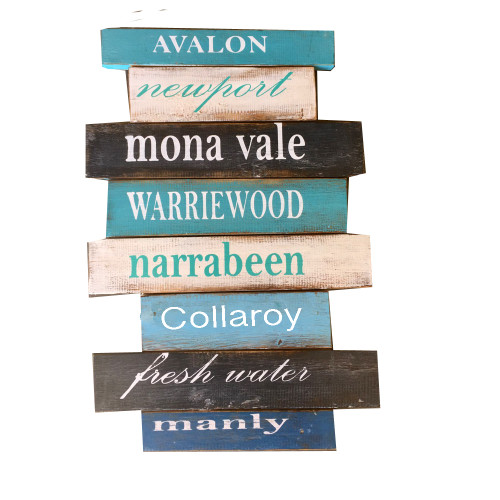 Manly, Freshwater, Collaroy, Narrabeen, Warriewood,Mona Vale, Newport, Avalon. Wall hanging