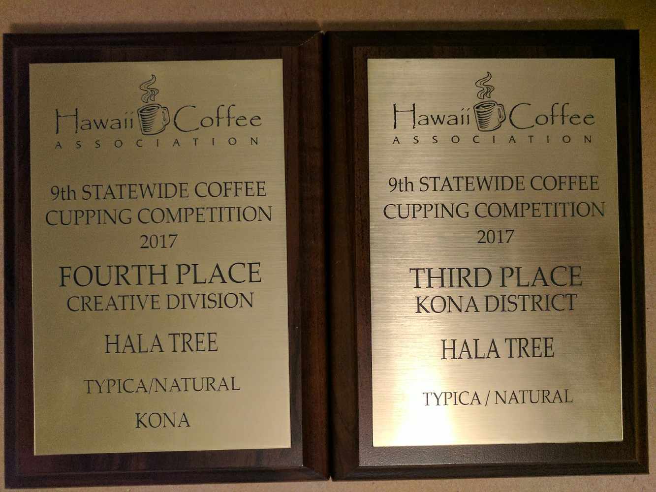 Award winning coffee - Certified Organic 100% Kona