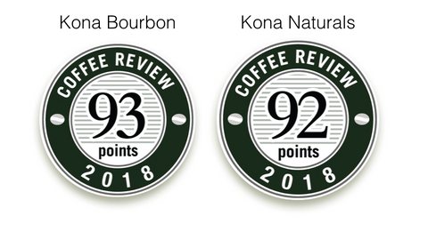 Coffee Review: 93 for our Bourbon and 92 for our naturals