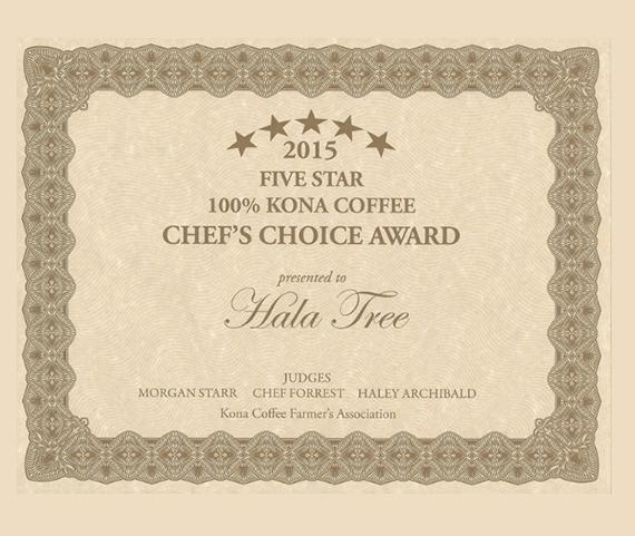 Chefs Choice Coffee Award