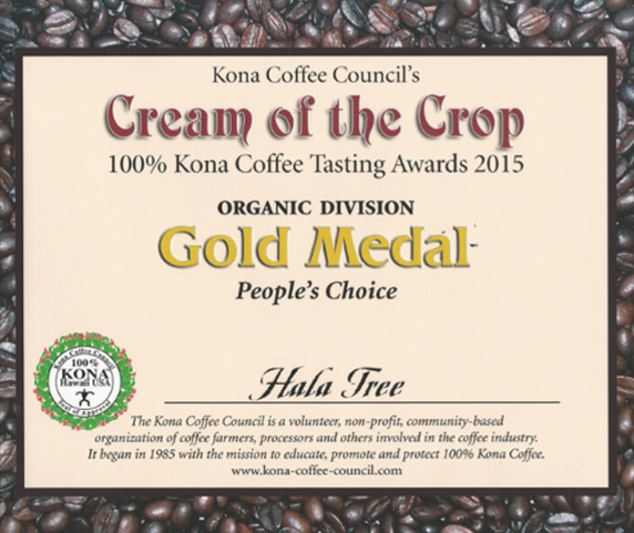 Gold Medal Coffee Award