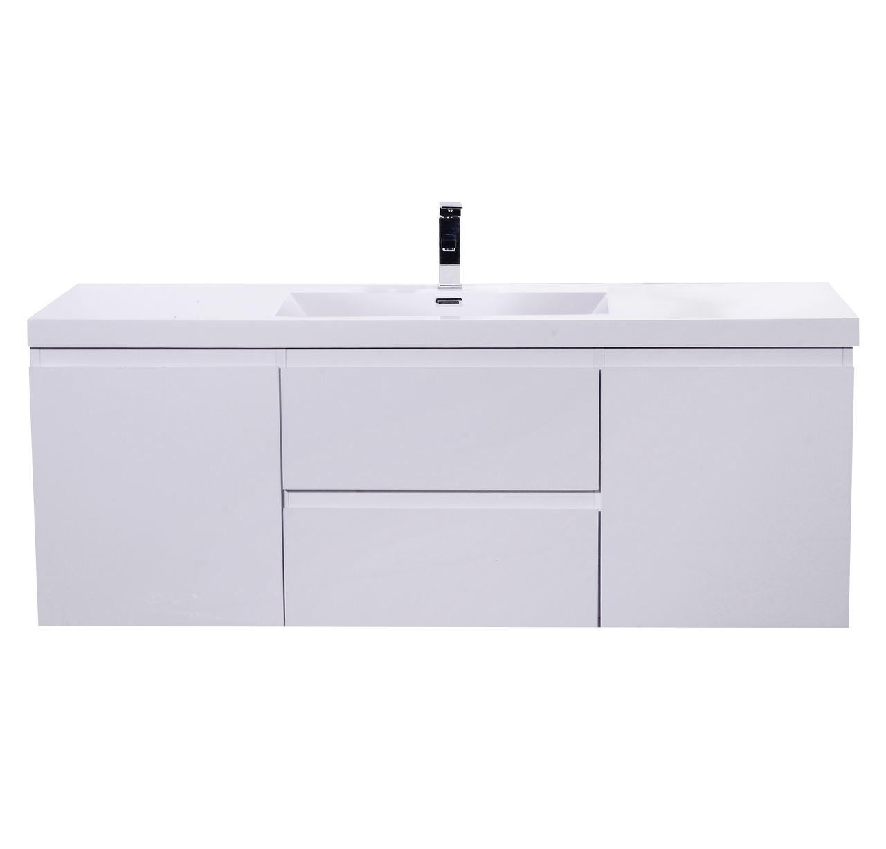 Moreno Mob 60 Single Sink High Gloss White Wall Mounted Modern Bathroom Vanity With Reeinforced Acrylic Sink Los Angeles Vanity