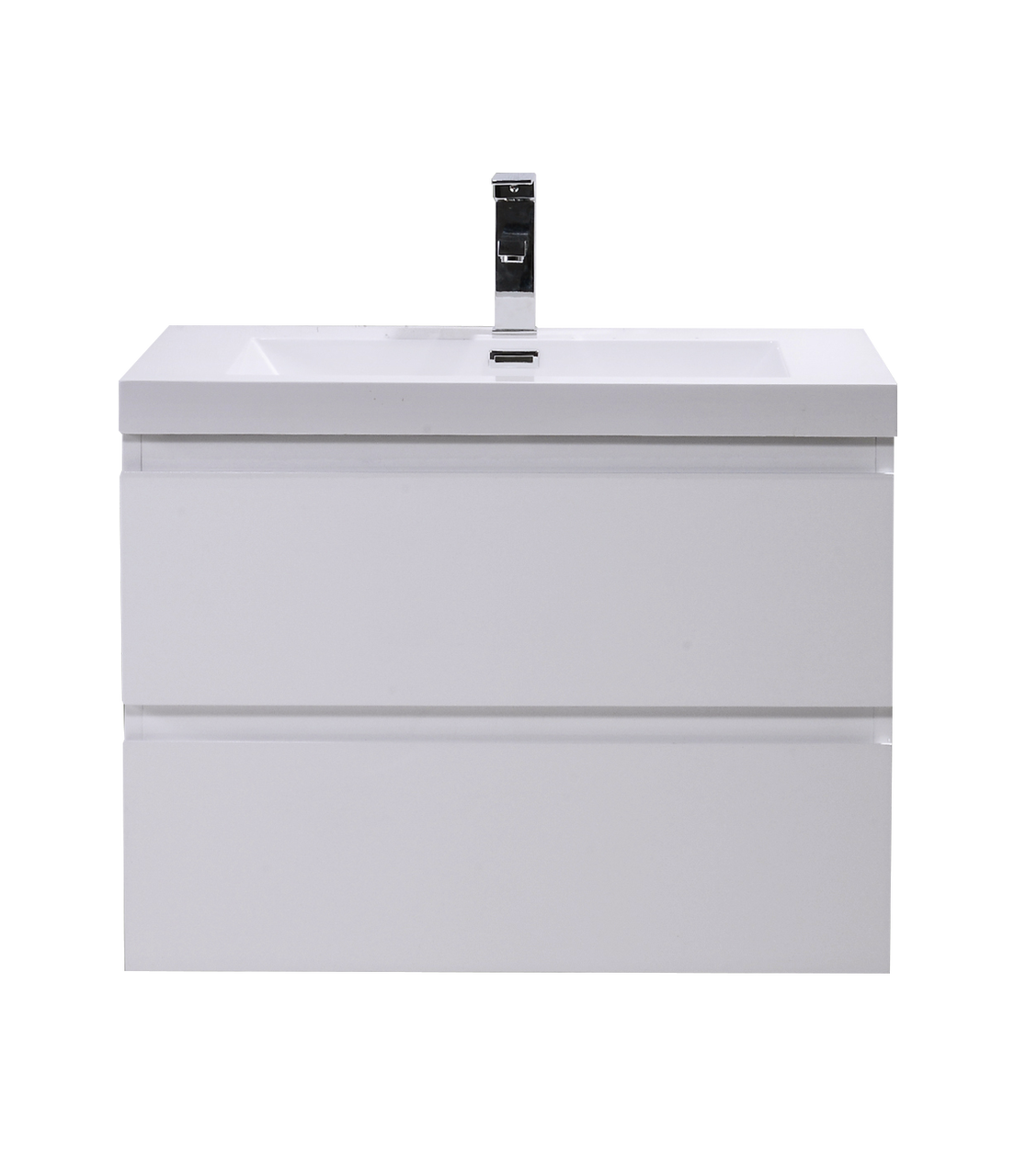Moreno Mob 30 High Gloss White Wall Mounted Modern Bathroom Vanity With Reeinforced Acrylic Sink Los Angeles Vanity