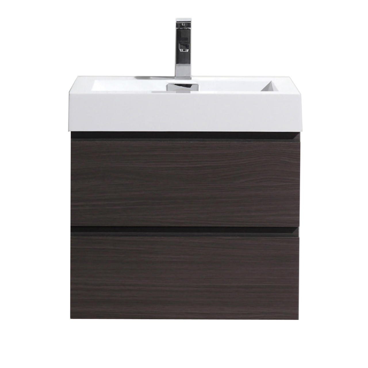 Moreno Mof 30 Dark Grey Oak Wall Mounted Modern Bathroom Vanity With Reeinforced Acrylic Sink Los Angeles Vanity