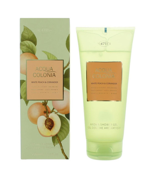 4711 Acqua Colonia White Peach & Coriander Shower Gel 6.8 oz