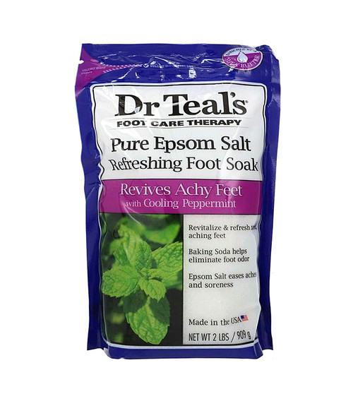 Dr Teal's Foot Care Therapy Refreshing Foot Soak Cooling Peppermint 32 oz Unisex