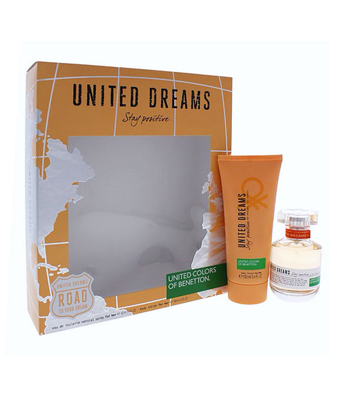 Benetton United Dreams Stay Positive Eau De Toilette Gift Set