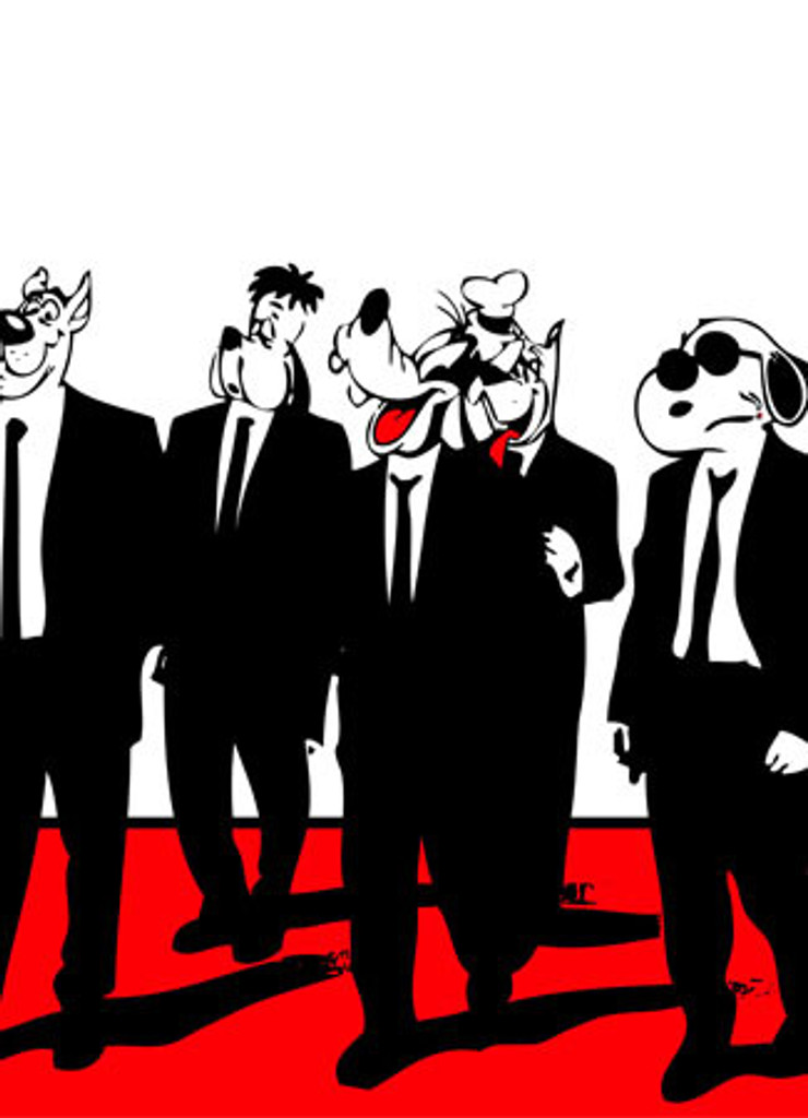 12 x18 The Reservoir Hounds by SNIPT