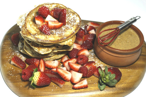 Almond Cinnamon Pancake with Chai Spiced Almond Butter