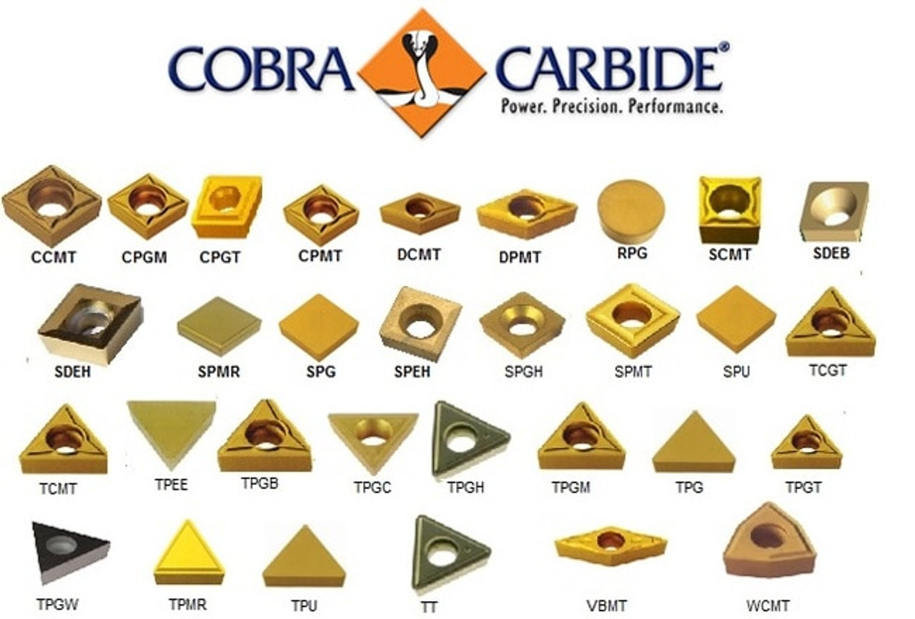 0.062 Cutting Width 0 Degrees Lead Angle TNMA Style Pack of 10 CM14 Grade Cobra Carbide 44033 On-Edge Solid Carbide Grooving Insert