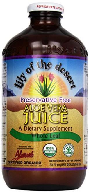Aloe Whole Leaf Juice Organic, Preservative Free