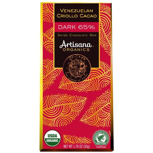 Venezuelan Criollo Cacao, Organic Dark 65%, 1.8 oz bar