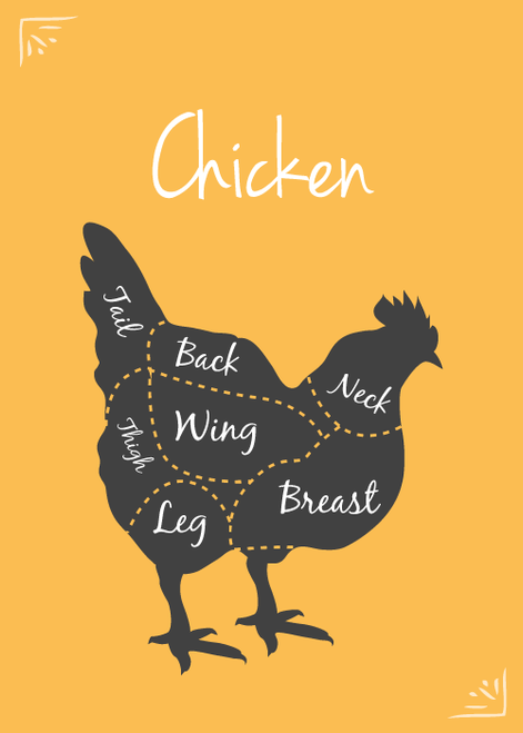 SFRAW Dehydrated Chicken Jerky/Breast, small bag