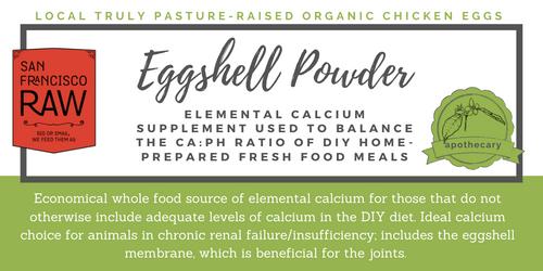SFRAW Ground Eggshell Powder, by the oz