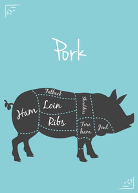 SFRAW Pork Grind, 8 oz.