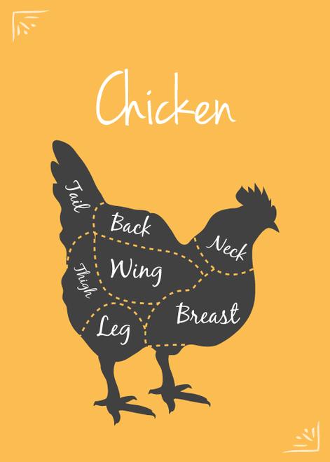 SFRAW Dehydrated Chicken Necks, by the lb