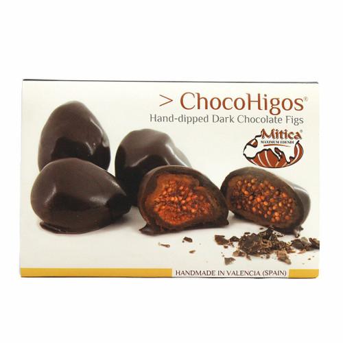 Chocohigos Hand-dipped Dark Chocolate Figs - 5 Pack