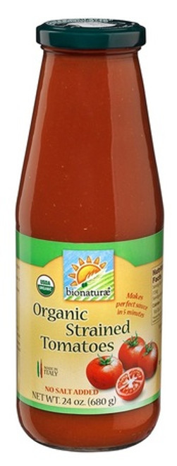 Strained Tomatoes Organic, No Salt Added