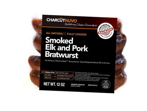 Smoked Elk and Pork Bratwurst