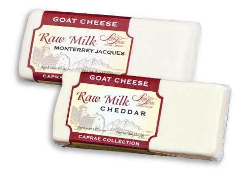 Caprae Raw White Sharp Cheddar Cheese, 8 oz