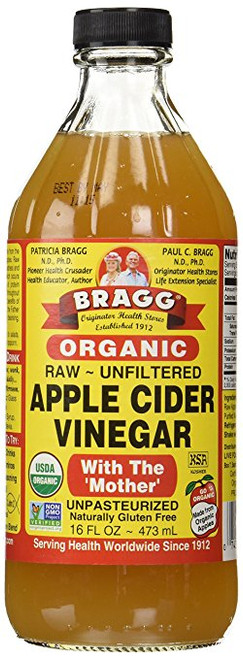 Apple Cider Vinegar, Organic Raw/Unfiltered, 16 fl oz.