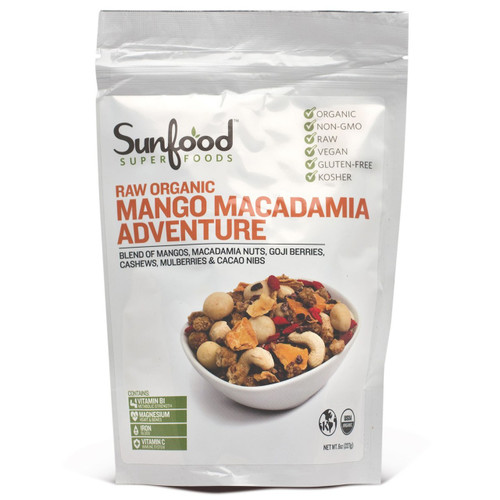 Mango Macadamia Adventure, Organic Raw 6oz.