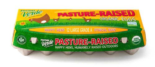 Pasture-Raised Organic Certified Humane Chicken Eggs, LG Grade A, by the dozen