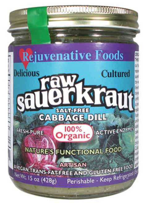 Salt-Free Cabbage-Dill-Sauerkraut