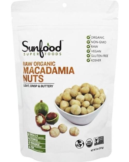Macadamia Nuts, 8oz. Og, Raw