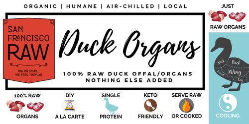 SFRAW Ground Duck Organs 16 oz.