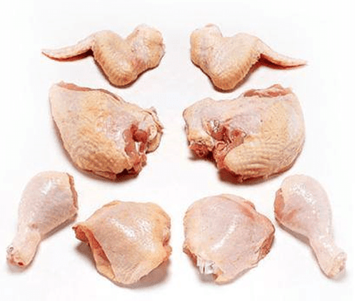 Free-Range Local Chicken, Cut 8-way, portioned