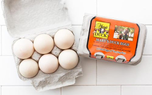 Free-Range Local Mary's Duck Eggs, by the dozen