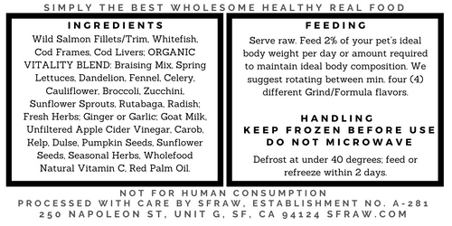 SFR Wild Seafood Formula, 40x7.5 oz. case
