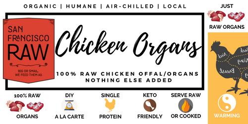 SFRAW Ground Chicken Organs  8 oz.