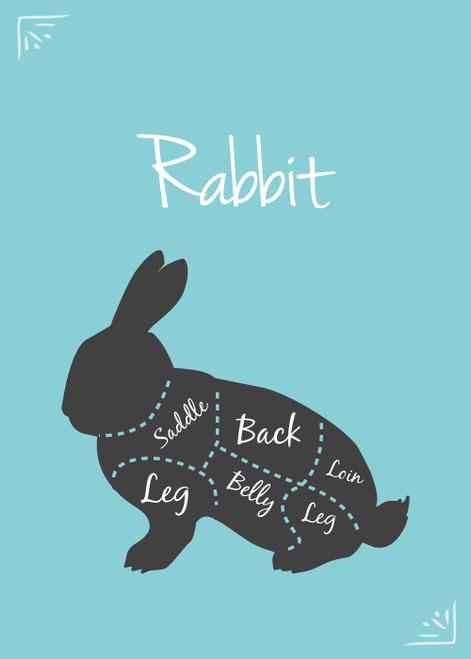 SFR Fryer Rabbit Whole Dressed, CUT/PORT by the lb.