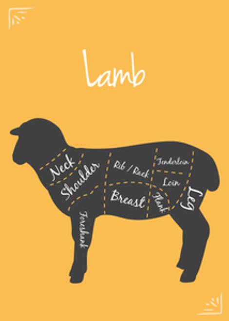 Lamb Breast Bones, Cut 10-lb BULK bag