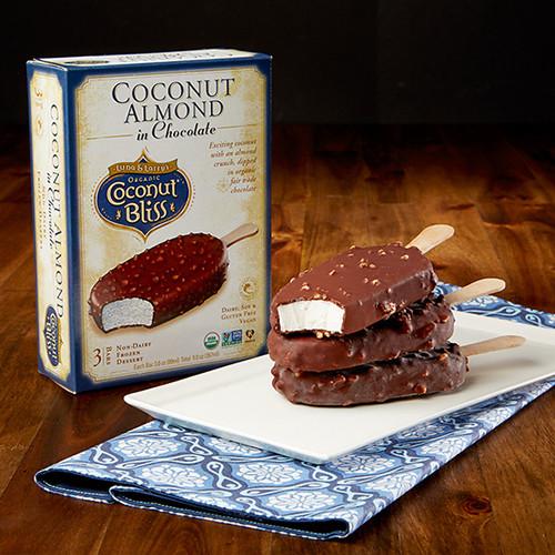 Coconut Almond Chocolate Coconut Milk Frozen Dessert bars