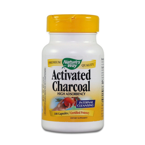 Activated Charcoal, 100 Capsules