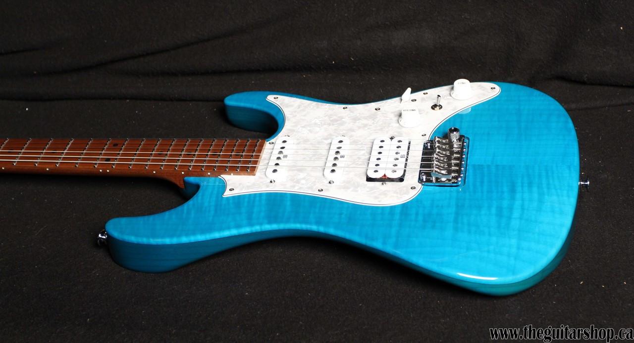 IBANEZ AZ PRESTIGE AZ2204F TRANSPARENT AQUA BLUE