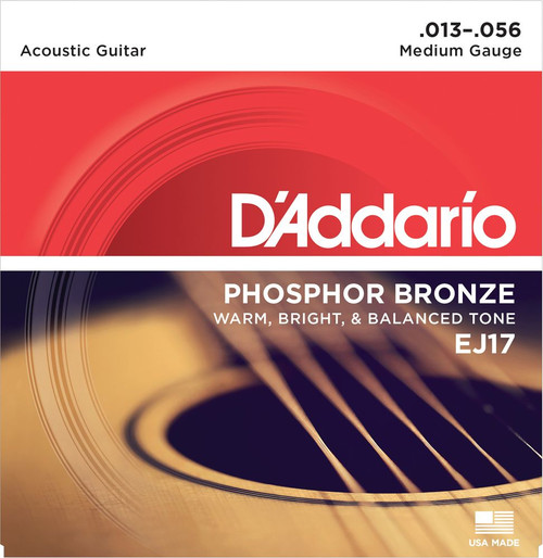 D'ADDARIO 13'S ACOUSTIC EJ17 MEDIUM