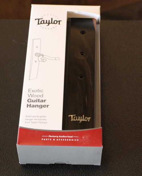 TAYLOR EXOTIC WOOD GUITAR HANGER EBONY WITH TAYLOR LOGO