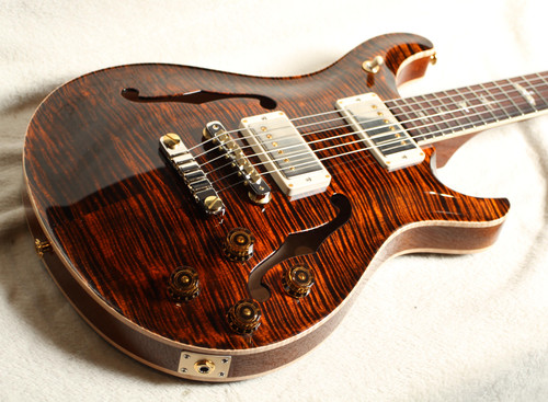 PRS MCCARTY 594 HOLLOWBODY II 10 TOP ORANGE TIGER SN 304549