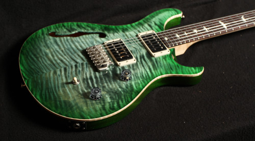 PRS CE 24 SEMI HOLLOW SN 309743 CUSTOM COLOUR: GREEN BURST