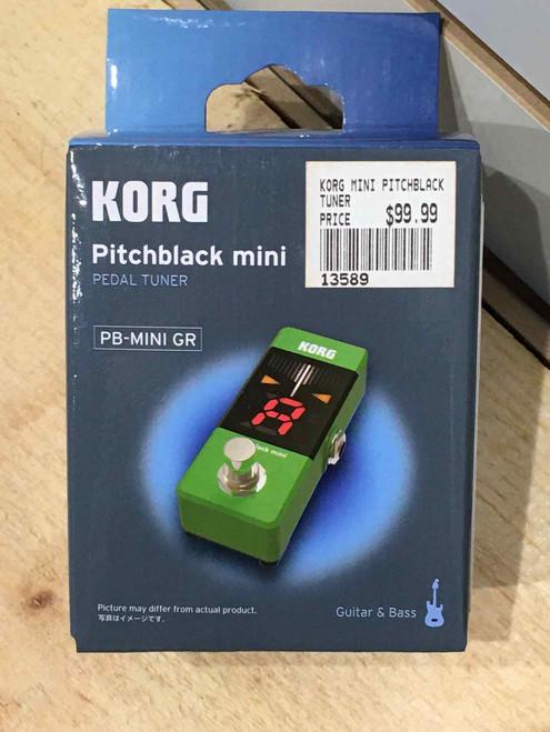 KORG PITCHBLACK MINI TUNER GREEN
