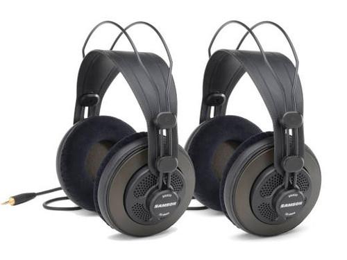 Samson SR850 Semi-Open Pro Studio Headphones, 2-Pack