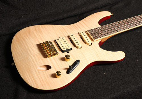 Ibanez S SEW761FM  Flamed Maple Top - Natural Flat