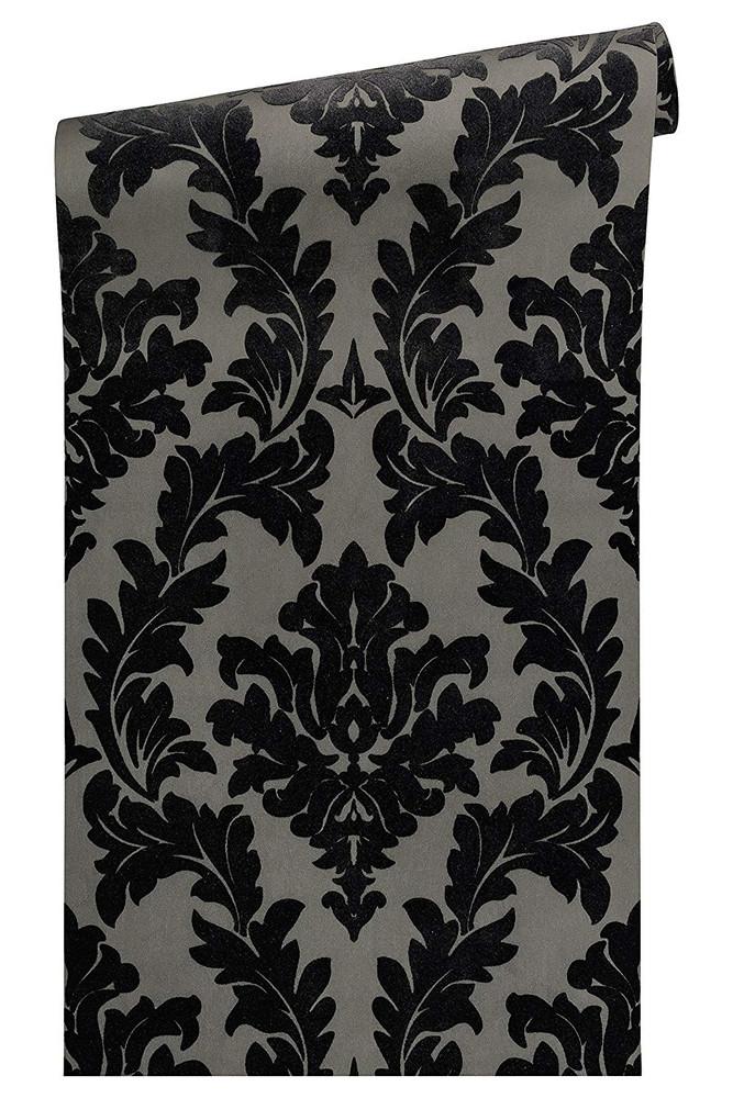 Baroque Flock - Black / Grey