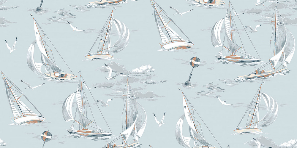 SAILBOATS - SOFT BLUE